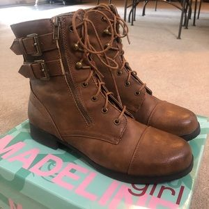 Madeline Girl Lace Up Boots